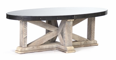 Remi Coffee Table (Zinc Top)