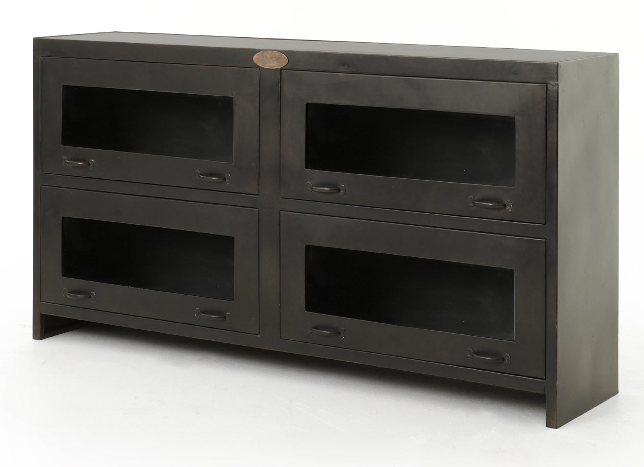 Rockwell Media Cabinet - Antique Iron - ROCKWELL MEDIA CABINET-ANTIQUE IRON, FOUR HANDS