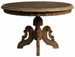 "Round Dining Table Amelia 48"", Smoke"