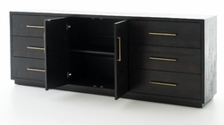 Suki Large Media Console - Burnished Black