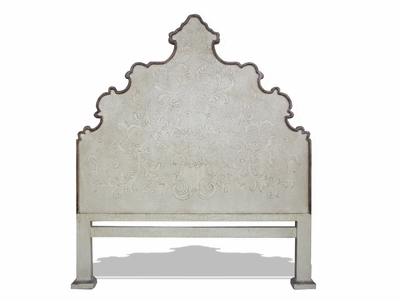 Traditional French Tufted Mirror Bed
