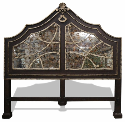 Traditional Old World Mirror Bed