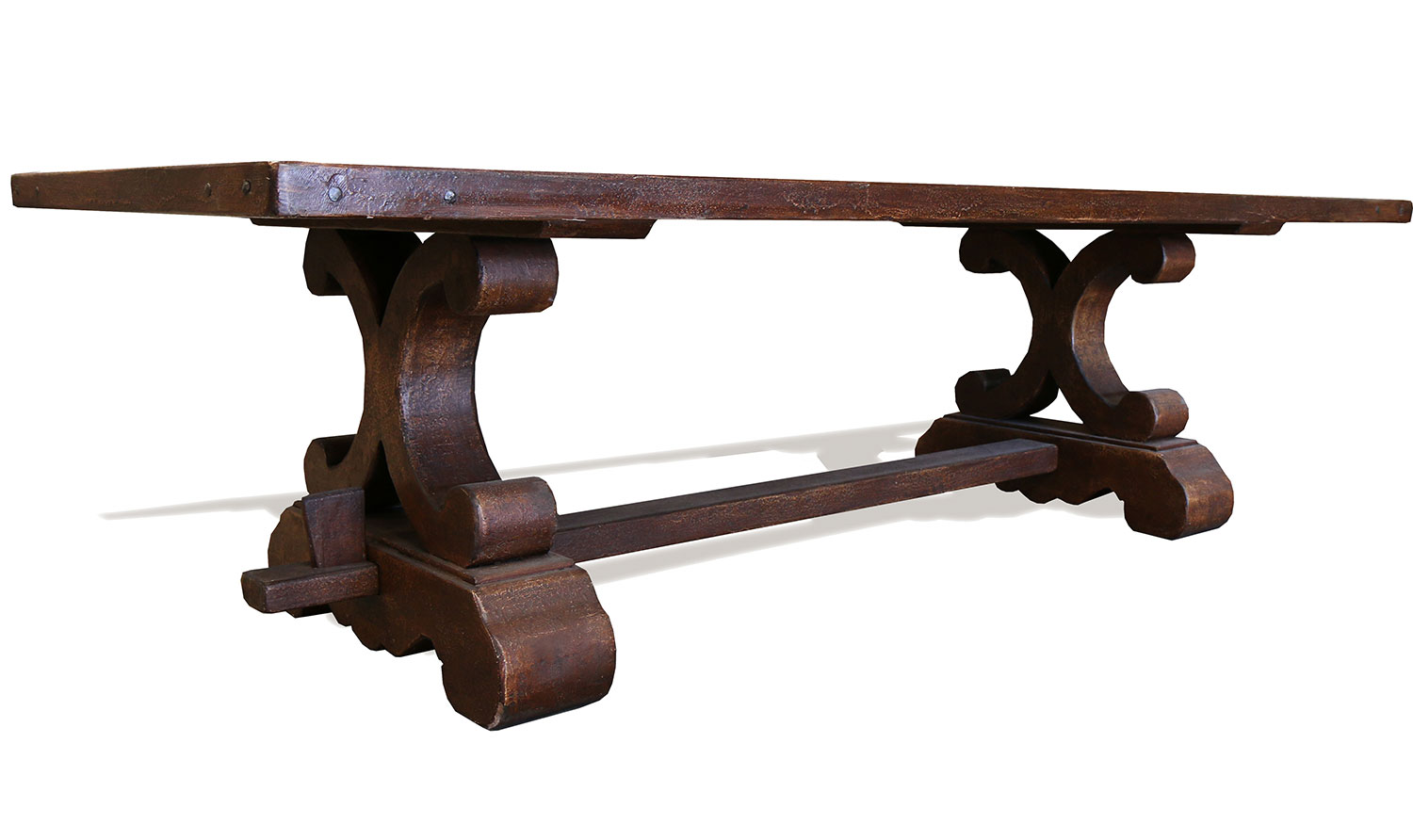 KOENIG TUSCAN AUSTIN OLD WORLD DINING TABLE BROWN KOENIG COLLECTION