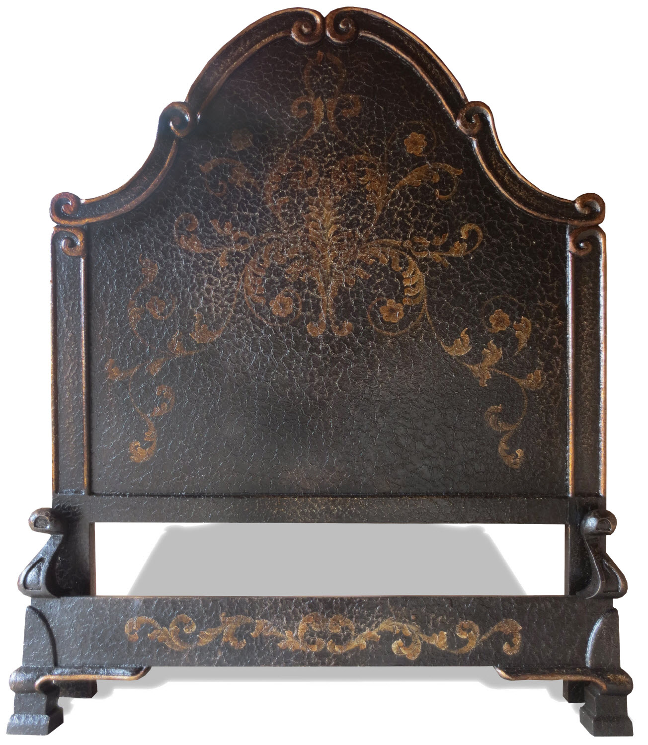 tuscan baroque veronica bed  hand painted in french black  - tuscan baroque veronica bed