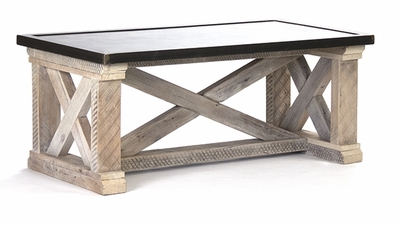 Valerie Coffee Table (Zinc Top)