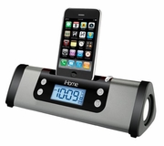 Portable Alarm Clock Stereo Speaker System for iPhone or iPod