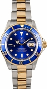 Pre owned (Rare) Authentic blue face semania mens diamond rolex watch