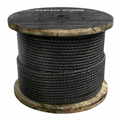 "1"" x 1000 ft 6x26 Swaged Wire Rope - 123000 lbs Breaking Strength"