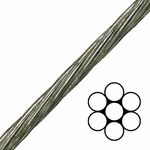 1X7 EHS Galvanized Cable