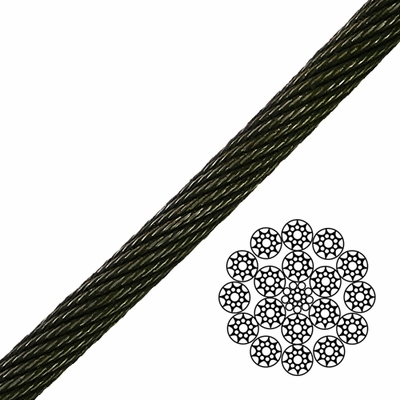 "3/4"" 19x19 Compacted Spin-Resistant Wire Rope - 66300 lbs Breaking Strength"