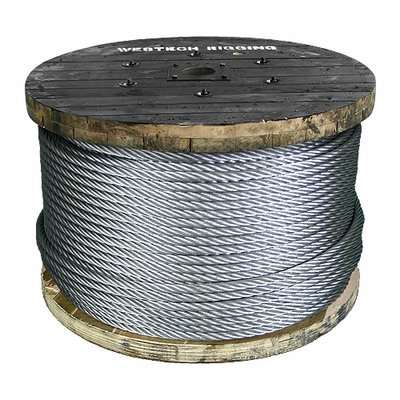 "3/8"" 7x19 x 5000 ft Galvanized Aircraft Cable - 14400 lbs Breaking Strength"