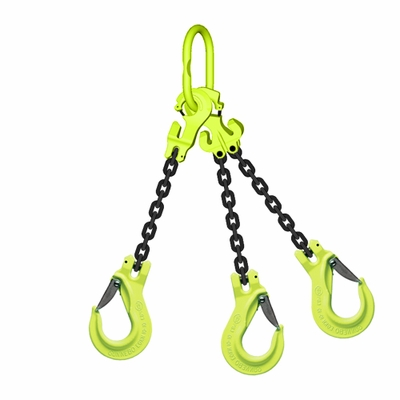 "5/16"" x 5 ft TG3-EGKN GrabiQ Adjustable 3-Leg Grade 100 Chain Sling - 14800 lbs WLL"