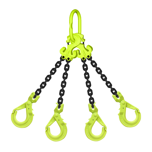 "5/8"" x 20 ft TG4-GBK GrabiQ Adjustable 4-Leg Grade 100 Chain Sling - 58700 lbs WLL"