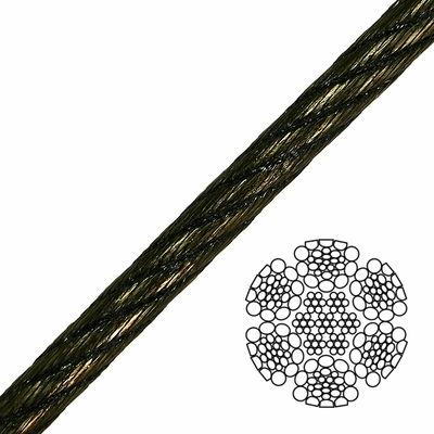 "7/8"" 6x26 Swaged Wire Rope - 95000 lbs Breaking Strength"