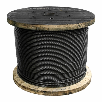 "7/8"" x 2000 ft 6x26 Swaged Wire Rope - 95000 lbs Breaking Strength"