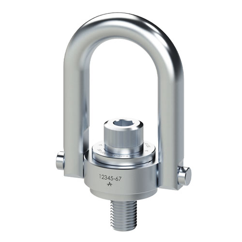 "ADB 2-1/2""-8 x 4.00"" Stainless Steel Safety Engineered Swivel Hoist Ring - 25000 lbs WLL - #29501"