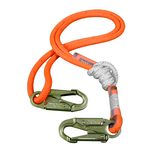 """All Gear 4 - 8 ft Adjustable Lanyard - 1/2"""" Rope"""