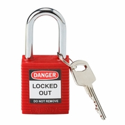 Brady Red Lockout Padlock