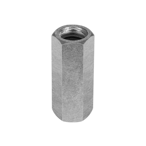 """Chicago 1/2""""-13 Zinc-Plated Steel Coupling Nut - #25530 1"""