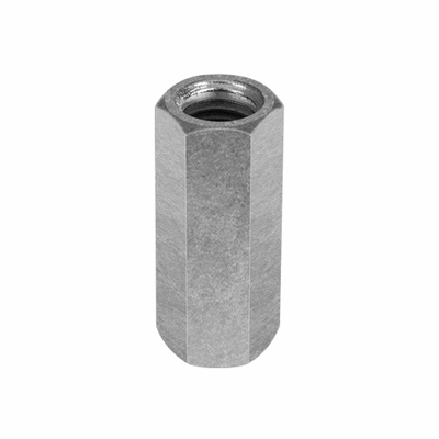"Chicago 1/2""-13 Zinc-Plated Steel Coupling Nut"