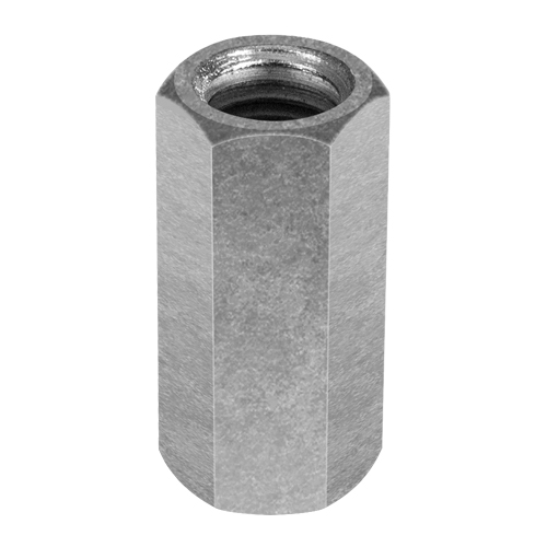 """Chicago 3/4""""-10 Zinc-Plated Steel Coupling Nut - #25540 0"""