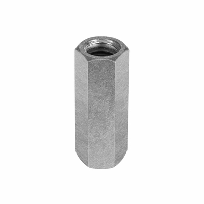 "Chicago 3/8""-16 Zinc-Plated Steel Coupling Nut"