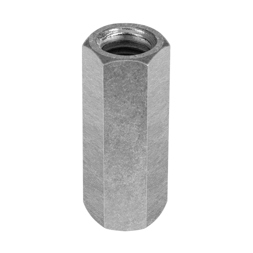 """Chicago 5/8""""-11 Zinc-Plated Steel Coupling Nut - #25535 6"""