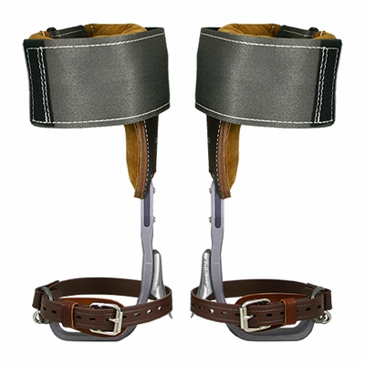 Climb Right CTB Aluminum Pole Climbing Spurs & Steel Wrap Pads