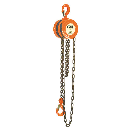 CM 622 1 Ton x 10 ft Hand Chain Hoist - #2256