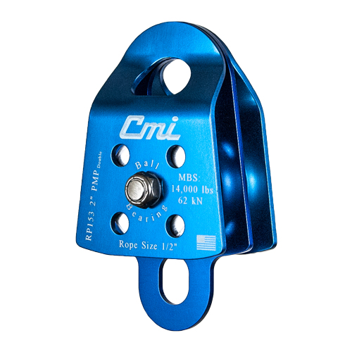 "CMI 2"" Double Sheave Prusik Minding Pulley - 1/2"" Rope - #RP153"