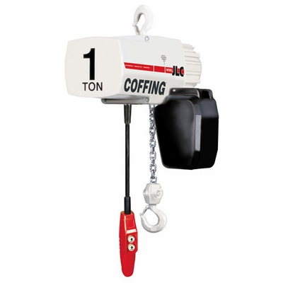 Coffing JLC2016-10 1 Ton x 10 ft Electric Chain Hoist - 115/230V-1PH