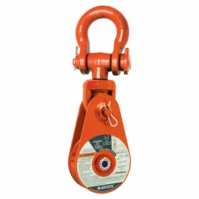 "Crosby 417 10"" Alloy Snatch Block w/ Shackle - 12 Ton WLL - #193882"