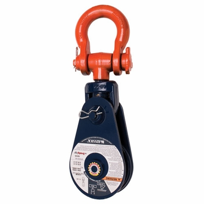 "Crosby 419 12"" RB Snatch Block w/ Shackle - 8 Ton WLL - #109457"