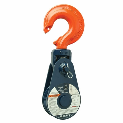 "Crosby 418 16"" Snatch Block w/ Hook - 15 Ton WLL - #108608"
