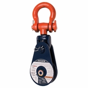 "Crosby 419 18"" Snatch Block w/ Shackle - 15 Ton WLL - #203130"