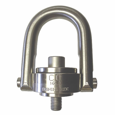"Crosby 3/8""-16 x 0.54"" SS-125UNC Stainless Steel Swivel Hoist Ring - 500 lbs WLL - #1065008"