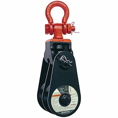 "Crosby 409 4-1/2"" BB Double Snatch Block w/ Shackle - 4 Ton WLL - #105022"