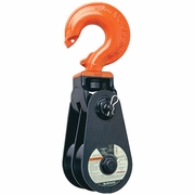 "Crosby 408 6"" Double Snatch Block w/ Hook - 12 Ton WLL - #104121"