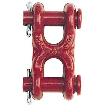 "Crosby 7/16"" - 1/2"" S-249 Grade 70 Twin Clevis Link - 11300 lbs WLL - #1012905"