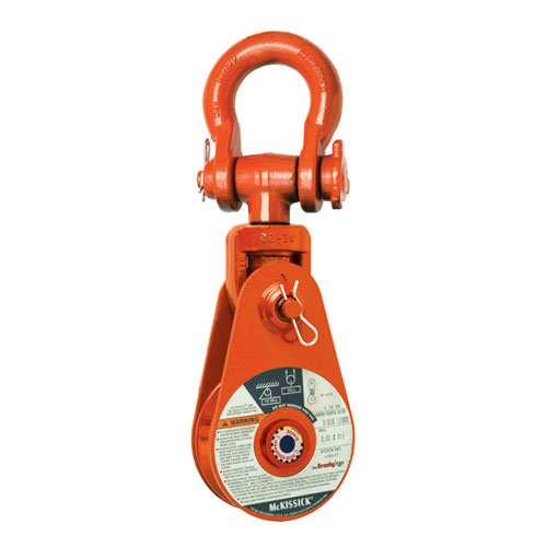 "Crosby 417 8"" BB Alloy Snatch Block w/ Shackle - 12 Ton WLL - #168990"
