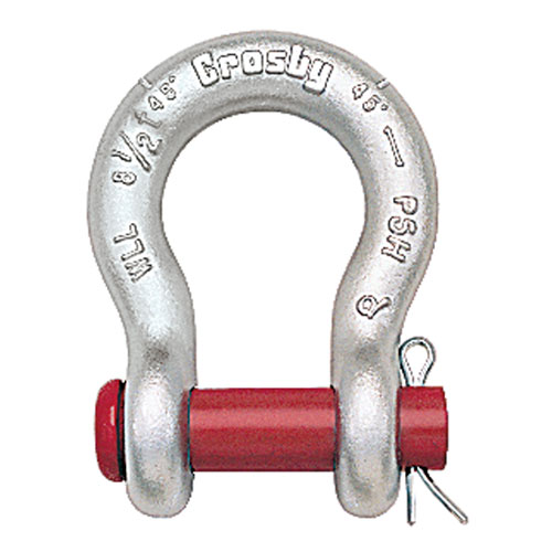 "Crosby G-213 1/4"" Round Pin Anchor Shackle - 1/2 Ton WLL - #1018017"