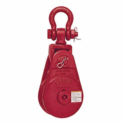 "Crosby L-5-S 5"" RB Snatch Block w/ Shackle - 6 Ton WLL - #599533"