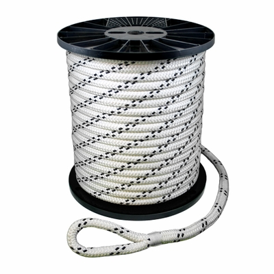 "CWC 1"" x 600 ft Braided Pulling Rope w/ Spliced Eyes - 31200 lbs Breaking Strength"