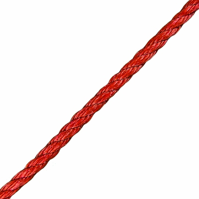 """CWC 3/8"""" Red PolyPro 3-Strand Rope - 2430 lbs Breaking Strength"""