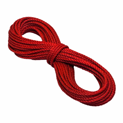 "CWC 3/8"" x 150 ft Red PolyPro 3-Strand Rope - 2430 lbs Breaking Strength"
