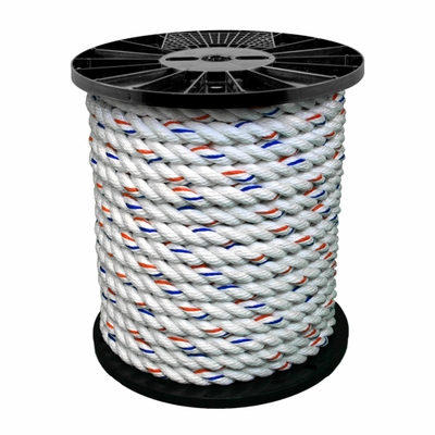 "CWC 3/8"" x 600 ft PolyDac 3-Strand Rope - 2700 lbs Breaking Strength"
