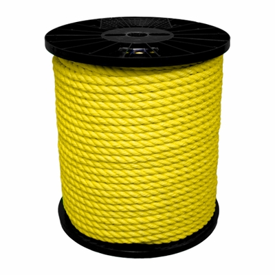 "CWC 3/8"" x 600 ft PolyPro 3-Strand Rope - 2430 lbs Breaking Strength"
