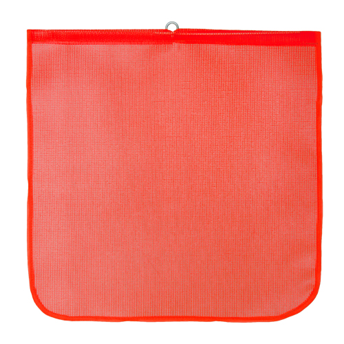 "DSP Orange Mesh Tailgate Flag - 18"" x 18"""