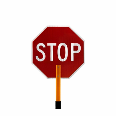 """DSP 18"""" Engineer Grade Reflective Stop Slow Paddle"""