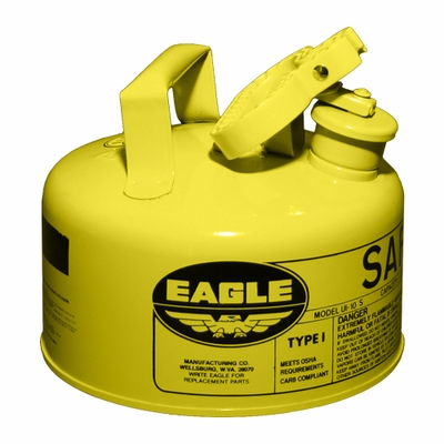 Eagle 1 Gallon Type 1 Yellow Safety Diesel Can